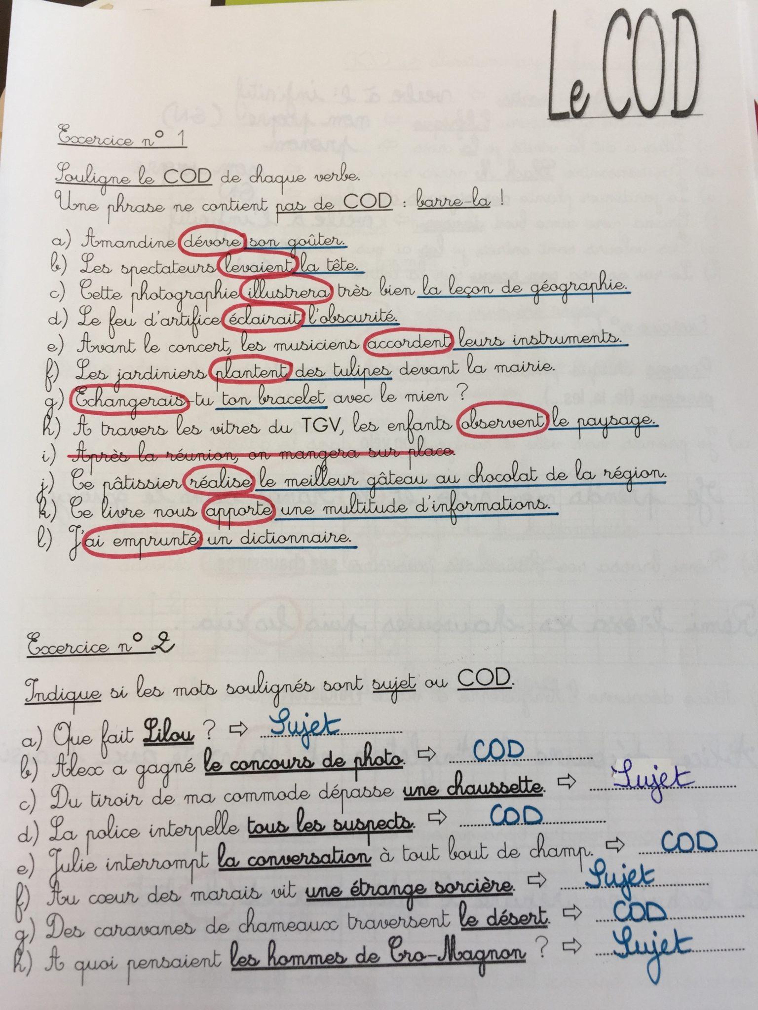 Correction Des Exercices Cod Coi